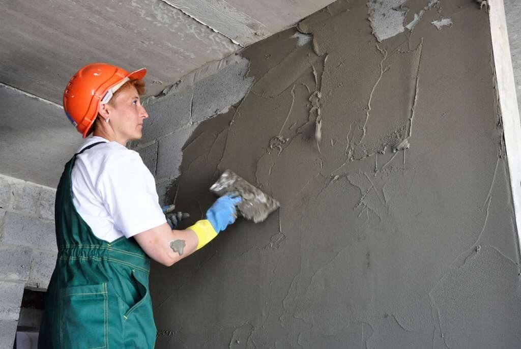 Цементная штукатурка стен и потолков в Минске