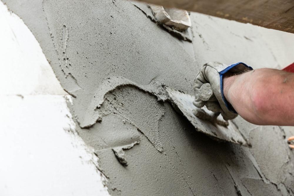 Цементная штукатурка стен и потолков в Минске цена фото